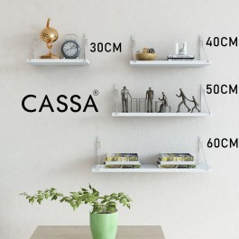Cassa Julie Wall Hanging  Storage Shelf Decorative Rack Display Modern Style MDF (Multiple Sizes)Rak Gantung Dinding