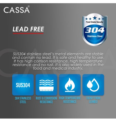 Cassa 304 Stainless Steel Double Tap Multifunctional Stainless Steel Tap Two Way Tap