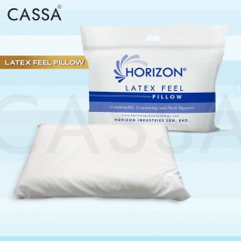 Cassa Horizon Premium Quality Latex Feel Pillow with Comfortable Contouring Neck Support