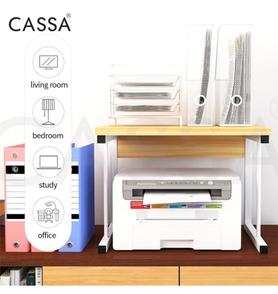 Cassa 2 Layer Icywave Heavy Duty Thicker Steel Microwave Oven Rice Cooker Rack Kitchen Dapur shelf Organizer Storage