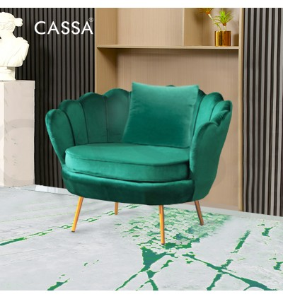 [FREE DELIVERY] Cassa Floral Nordic European Luxury Velvet Design Smooth Soft Fabric Sofa Living Room Bedroom 1/2/3 Seater + Pillow