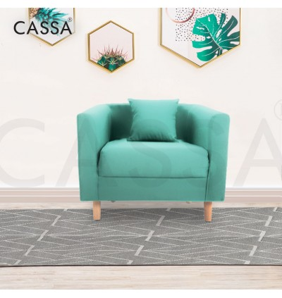 [FREE DELIVERY] Cassa Simple Basic Square Nordic Modern Minimalist Fabric Sofa for 1/2/3 Seater Living Room Bedroom