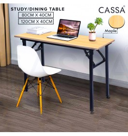 Cassa Piazza Foldable Simple Computer Desk PC Laptop Table Workstation Study Home Office Furniture (Brown)