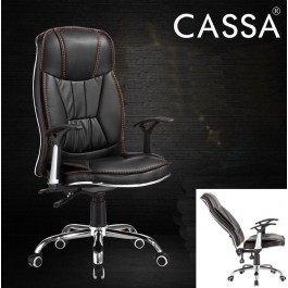 Cassa GZ Office Chairs Pu Leather Executive High Back Computer Desk Swivel Chair (Without Foot Rest)
