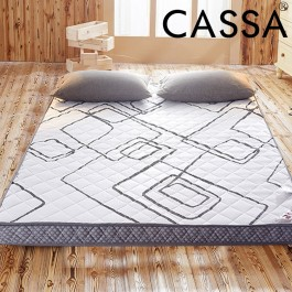Cassa Japanese Style Foldable and Rollable Single/Queen Mattress Topper Thickness 8cm  (Memory Foam) 3 feet/ 5 feet