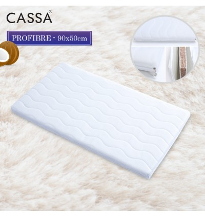 Cassa Pro 100% Natural Coconut Fibre ( Fiber ) Baby Mattress with Detachable and Washable Cover (98x55x4cm / 90x50x4cm) Fit to Baby Cot 94cm and 100cm