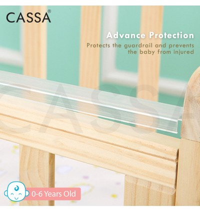 Cassa Ana Adjustable 3 / 5 Height Cradle Baby Cot Bed Wooden Rocking (Natural) (TWO LENGTH OPTION: 102CM/120CM)