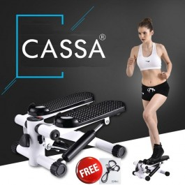 Cassa Home Stepper Multifunction Fitness Black White(Free 2 x Resistance Band)