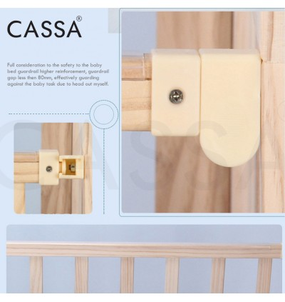 Cassa Cradle Baby Cot Baby Bed Natural Solid Wooden/White Paint Swing Rocking  rollers ( SIngle Layer / Double Layer )