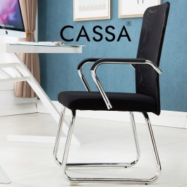 Cassa Normad Office Side Chair Visitor Chair with Breathable Black Mesh Back (One Piece Strong Structure)