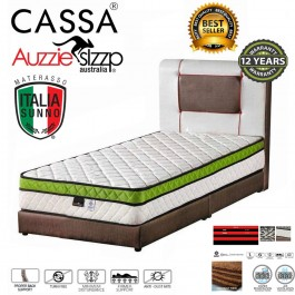 [12 Years Warranty] Aussie Sleep 9 Inches Thick (With 3 Inches Plush Top) Single Chiropractic Spring Mattress only