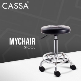 Cassa Relief Hydraulic Well Medical Spa Ergonomic Works Drafting Stool Chair with wheels Black