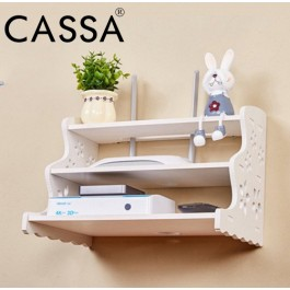 Cassa 3 Layer Living Room DVD Player Astro Player Wall Rack TV Shelves