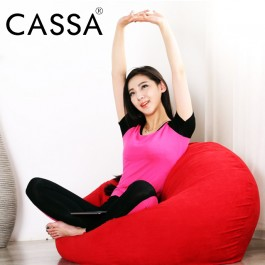Cassa Super Size Washable Fabric Bean Bag Sofa 2.1 kg Blue (Washable Fabric - Easy Care) PURPLE/RED/BROWN/GREEN/BLUE