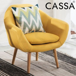 Cassa Scandinavian Nordic Sophia Lounge Arm Wing Chair Sofa Fabric 1 Seater only (Free Pillow 1 Unit)