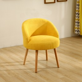 Cassa Scandinavian Nordic Yomi Arm Wing Office Cafe Dining Chair Lounge Sofa Fabric 1 Seater Only