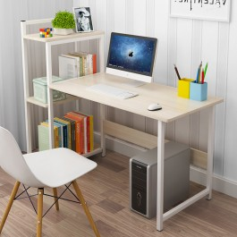 Cassa Betty Maple Desk 95X40CM Office Study Table Meja Tulis Book Shelf 3 Tier